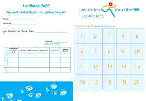 Laufkarte 2020 Unicef Lauf